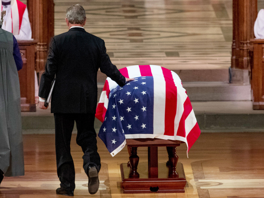 George W. Bush Cries During Emotional Eulogy of Father George H.W.: 'He Was Close to Perfect' a-bush-5