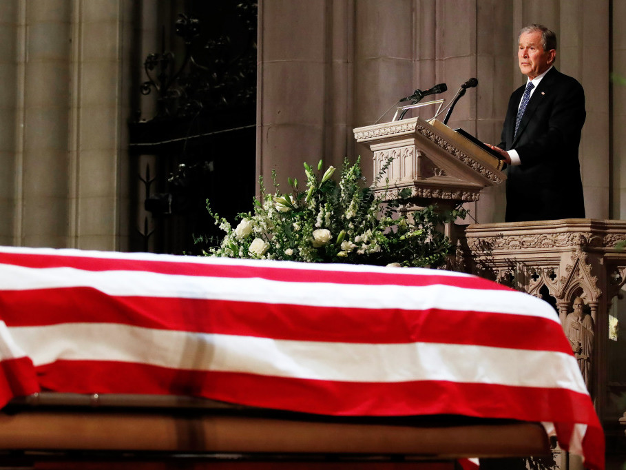 George W. Bush Cries During Emotional Eulogy of Father George H.W.: 'He Was Close to Perfect' a-bush-6