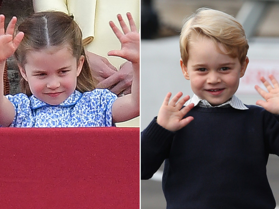 Princess Charlotte Has Mastered Big Brother Prince George's Royal Double Wave charlotte