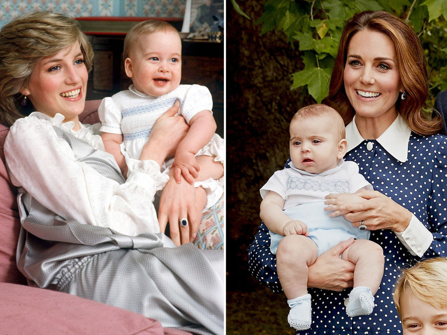 Kate Middleton Dressed Prince Louis Just Like Diana Dressed Prince William at the Same Age diana-catherine-1