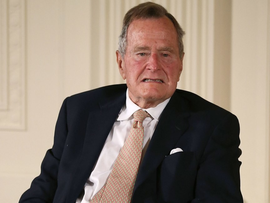 George H.W. Bush 'Very Much Regrets' Missing His Hometown Parade Due to Hospitalization george-hw-bush