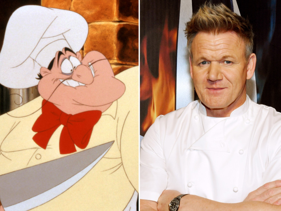Gordon Ramsey The Little Mermaid Louis the Chef