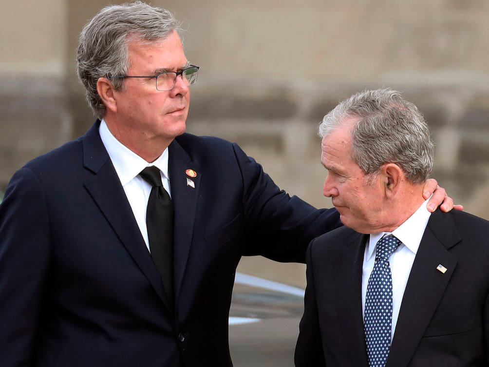 What Jeb Bush Told George W. After He Broke Down During Eulogy for Their Dad: 'You Recovered and Scored' jeb-bush-1