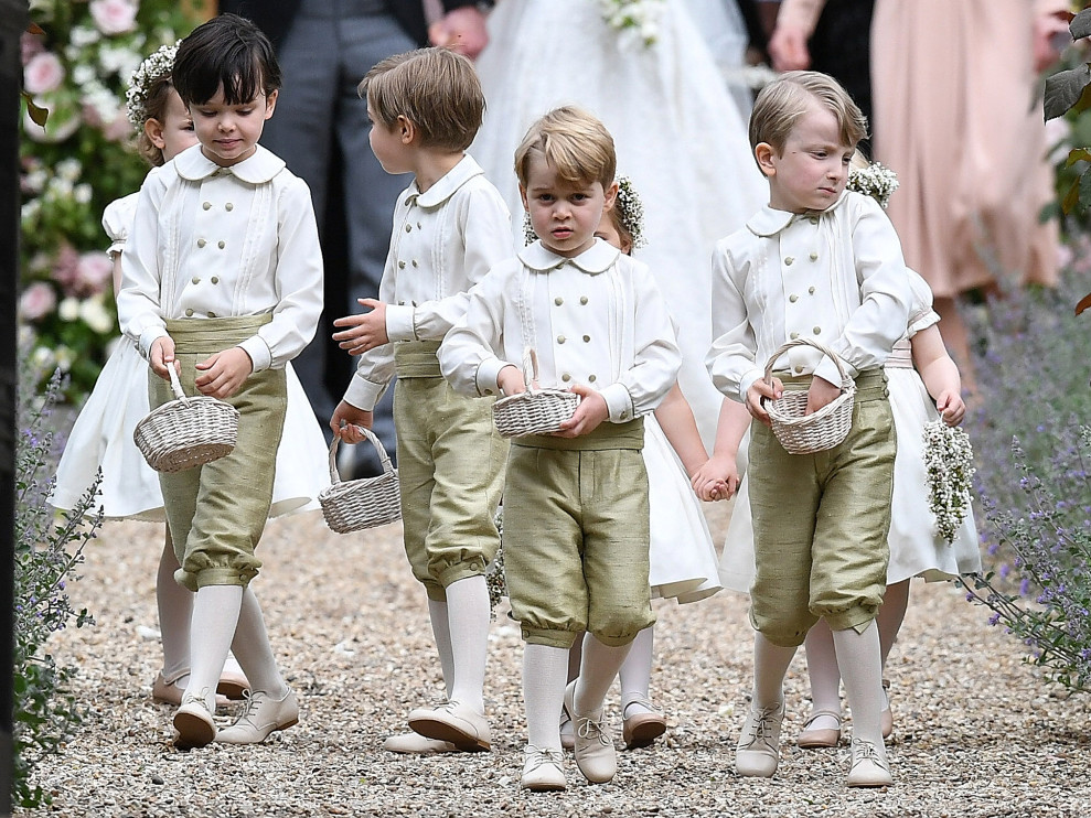 Prince George Wore Pants for the First Time at Royal Wedding (He's Only Allowed to Wear Shorts!) prince-george1