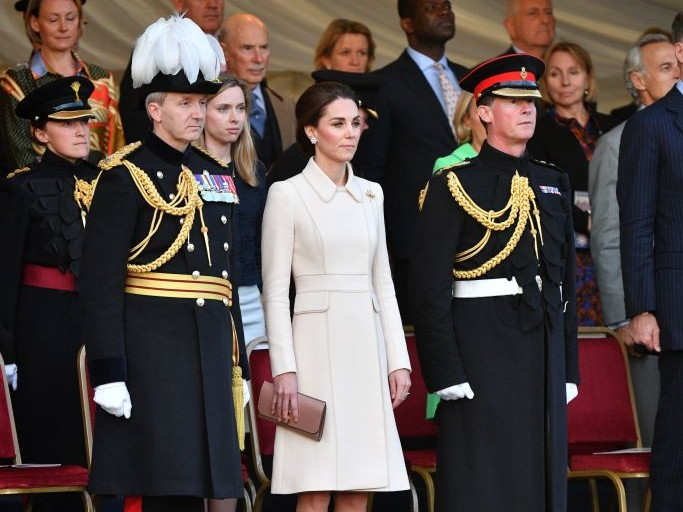 Kate Middleton Steps Out to Honor Troops as She Takes the Salute at Spectacular Military Parade rexfeatures_10286572x