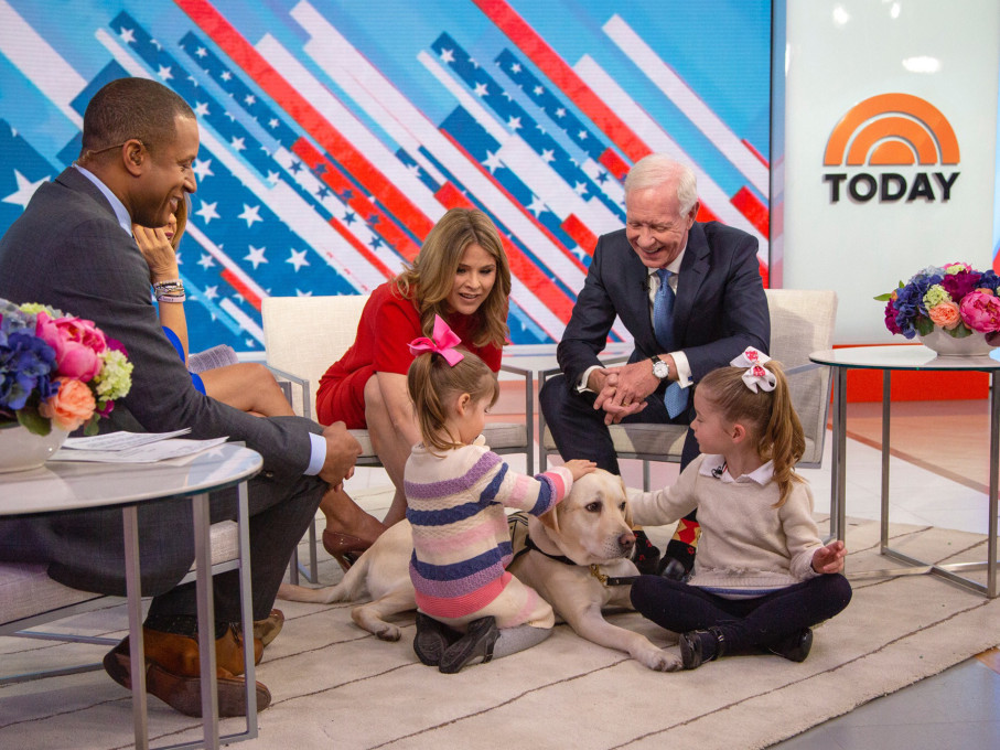Jenna Bush Hager's Daughters Say Goodbye to George H. W. Bush's Service Dog, Sully, Before His Next Assignment