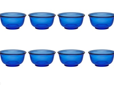 Blue Glass Finger Bowls