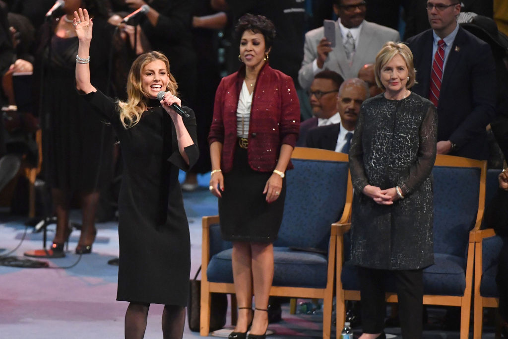 Faith Hill Performs 'What a Friend We Have in Jesus' at Aretha Franklin's Funeral