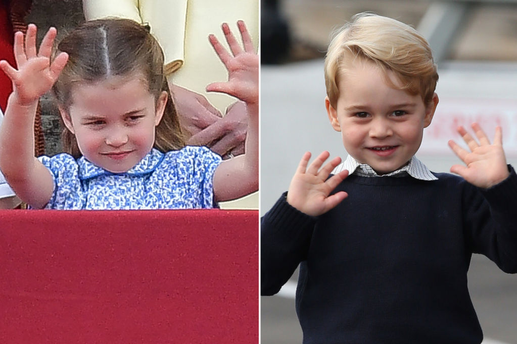 Princess Charlotte Has Mastered Big Brother Prince George's Royal Double Wave