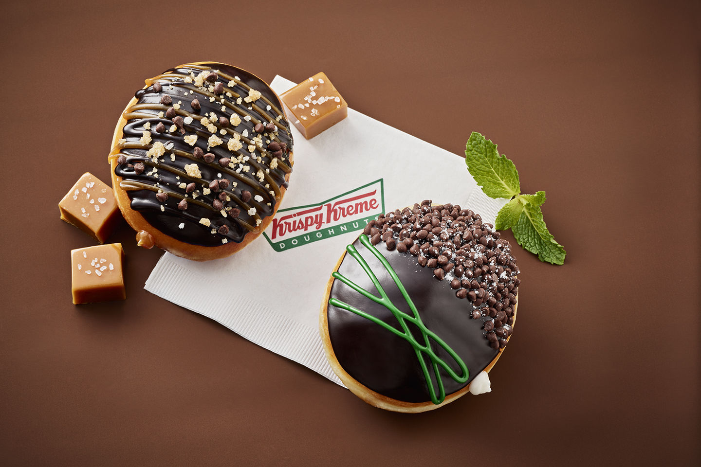 Krispy Kreme Just Dropped Two Ghirardelli Doughnuts