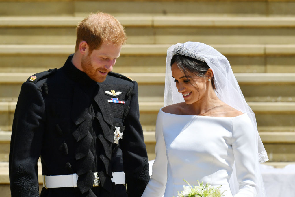 Prince Harry Said the Sweetest Thing to Meghan Markle's Wedding Dress Designer During Reception