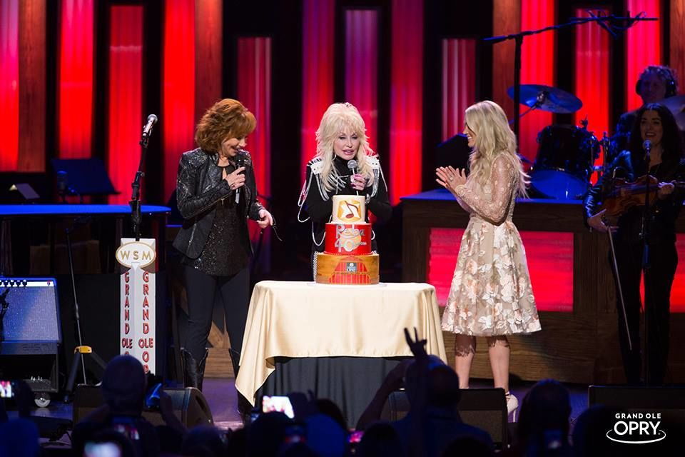 Dolly Parton and Carrie Underwood Surprise Reba McEntire on the 40th Anniversary of her Grand Ole Opry Debut