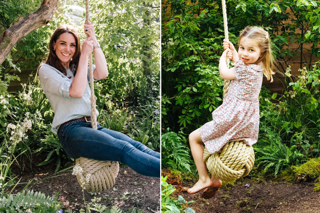 Like Mother, Like Daughter! Princess Charlotte Twins with Kate Middleton on Her Garden Swing