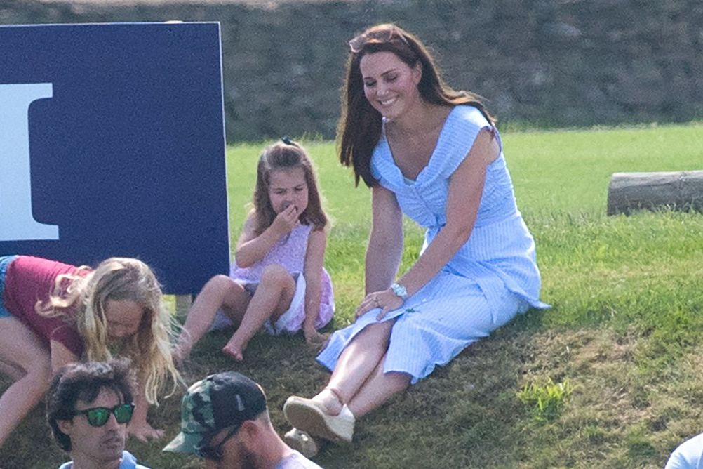 See Princess Charlotte and Prince George Adorably Cheer on Dad William at Polo!