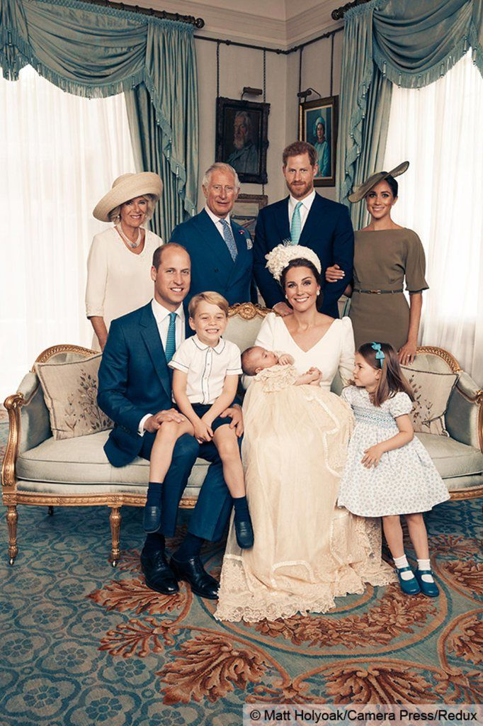The Sneaky Way Queen Elizabeth Made It into Prince Louis' Official Christening Portraits