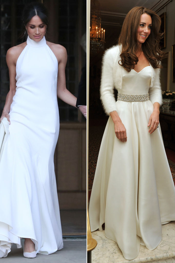 Royal Wedding Flashback! See Kate Middleton's 2011 Reception Dress Next to Meghan Markle's