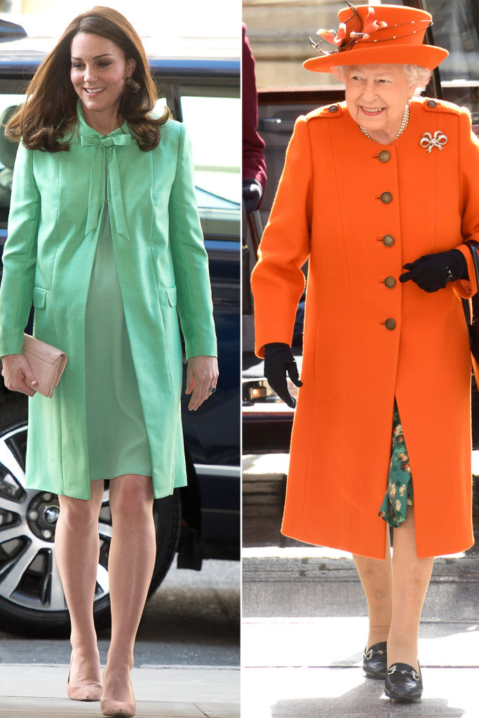 Kate Middleton Takes Fashion Cues from the Queen in the Perfect Spring Hue
