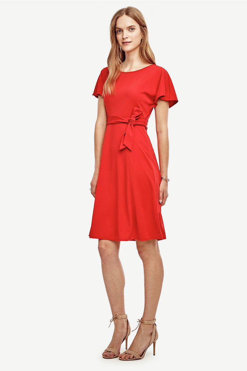 Belted Flare Dress from Ann Taylor