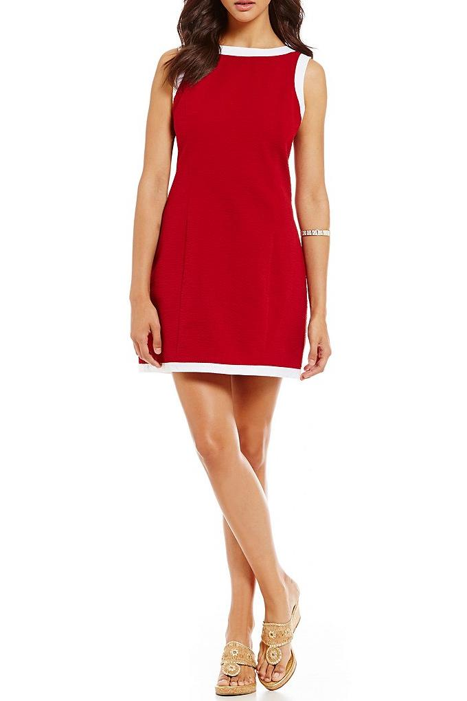 Harper Solid-Trim Dress from Lauren James