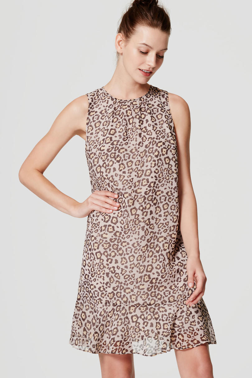 Spotted Flounce Dress from Loft