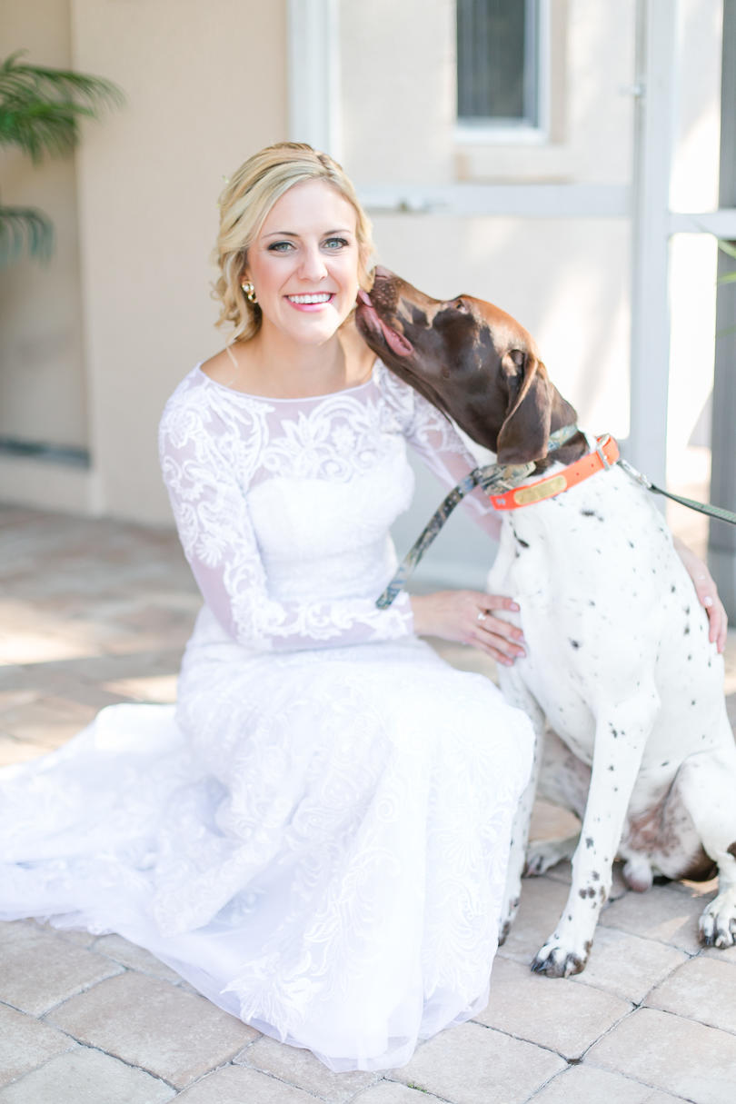 Dogs in Wedding good luck