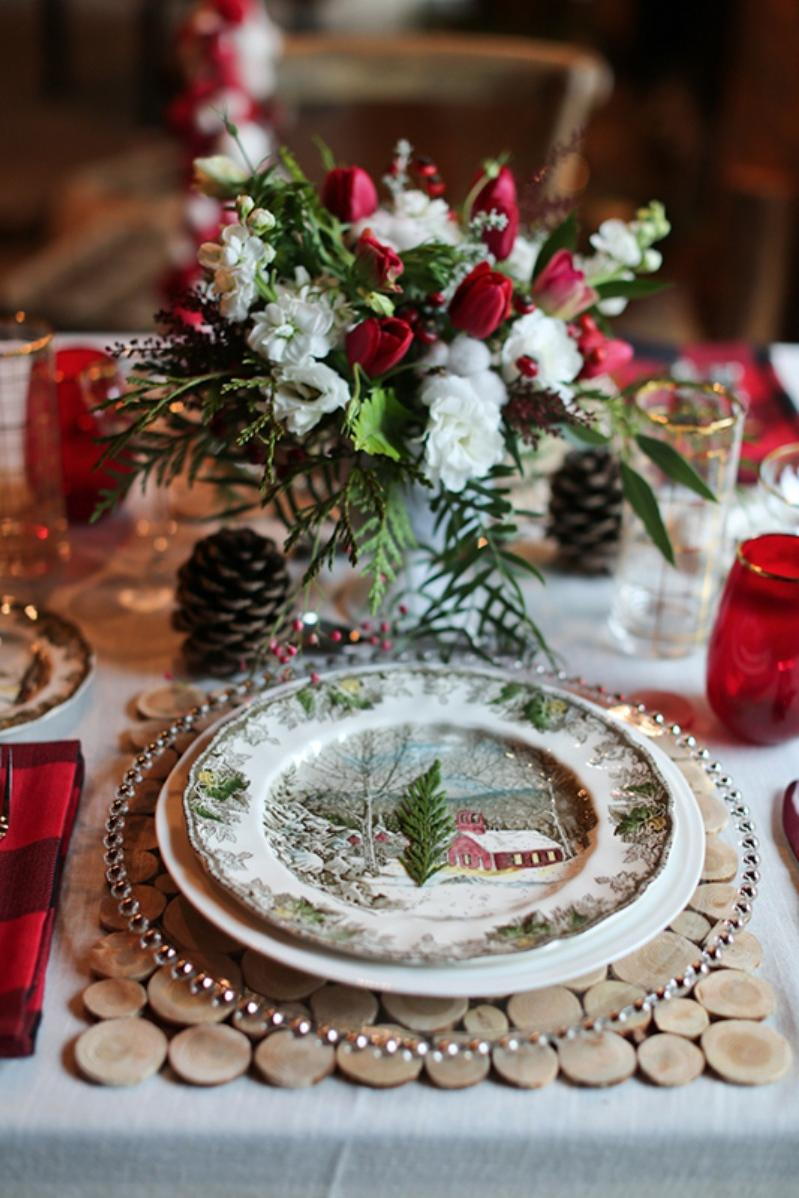 Deck Out Place Settings With Christmas Dishes